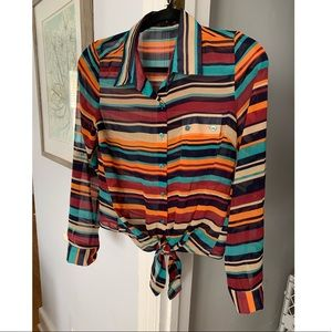 Multi color 3/4 sleeve top